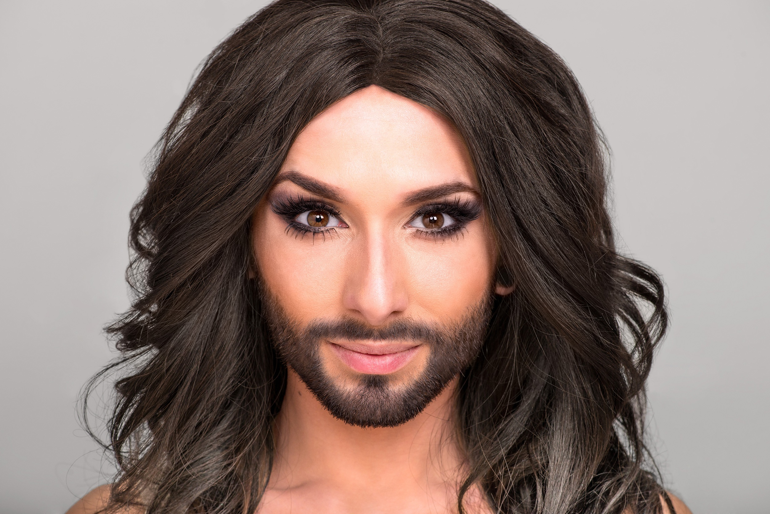 Conchita Wurst Walks at Paris Fashion Week