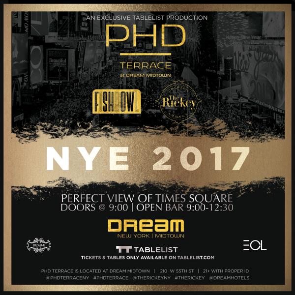 New Years Eve at PHD !!!