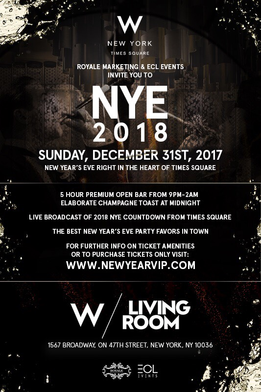 New Years Eve At The W Times Square Royale Marketing