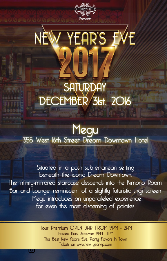New Years Eve at Megu !!