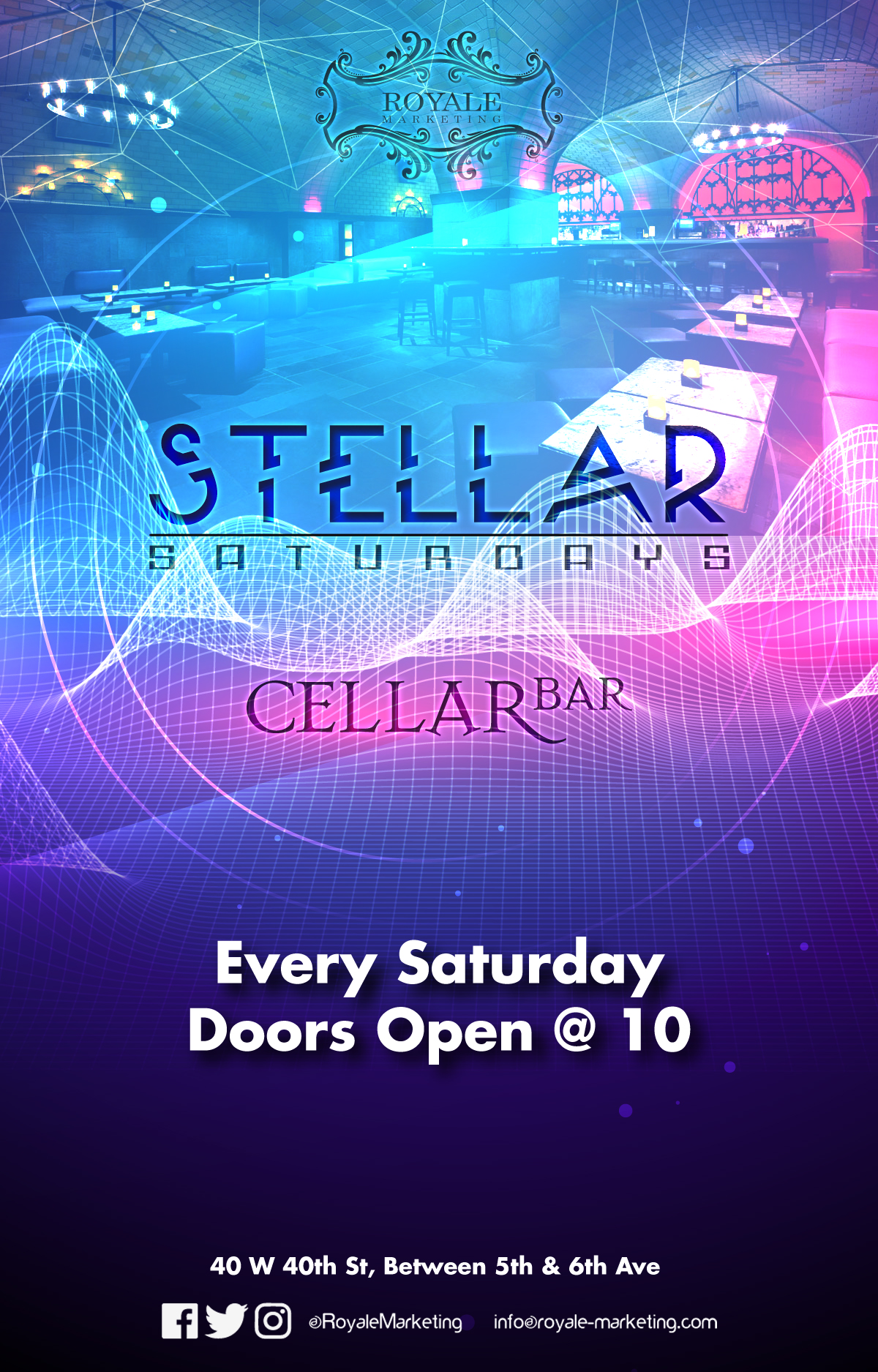 Stellar Saturdays at Cellar Bar