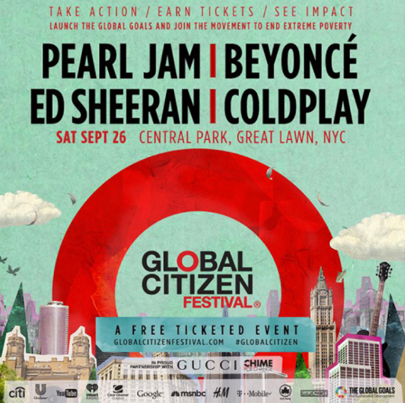 Global Citizen Line Up Announced !!!