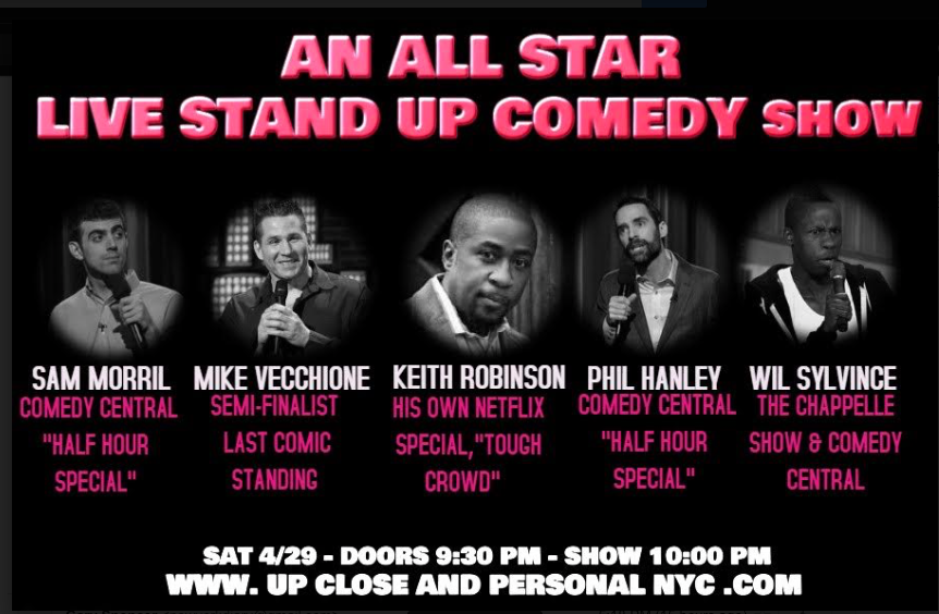 Up Close And Personal ~ A Night Of Comedy .