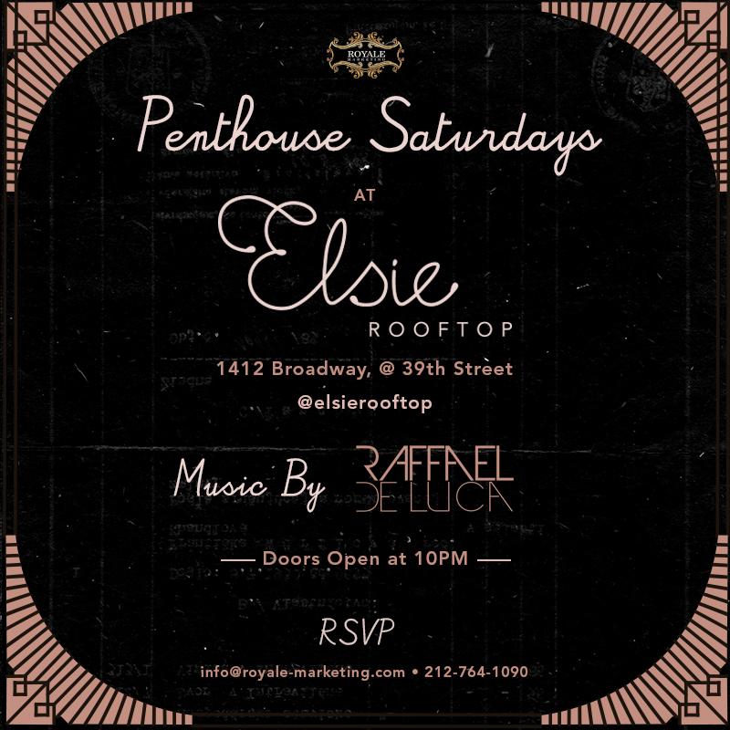 Penthouse Saturdays at Elsie Rooftop