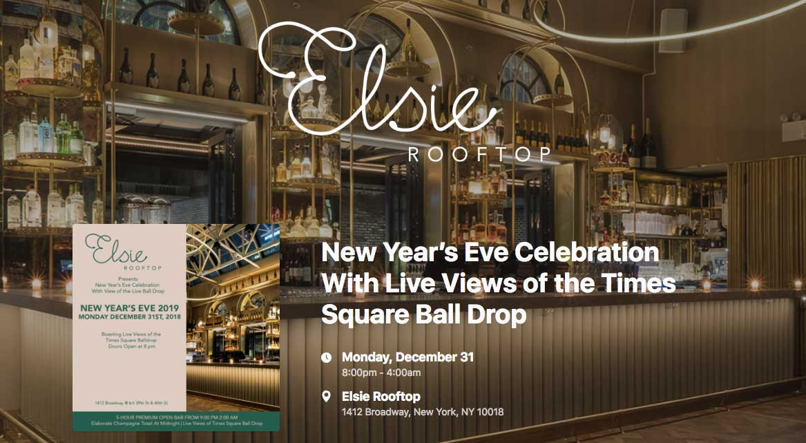 Else Rooftop New Year's Eve Celebration Banner
