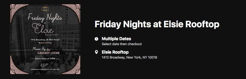 Friday Nights @ Elsie Rooftop Banner