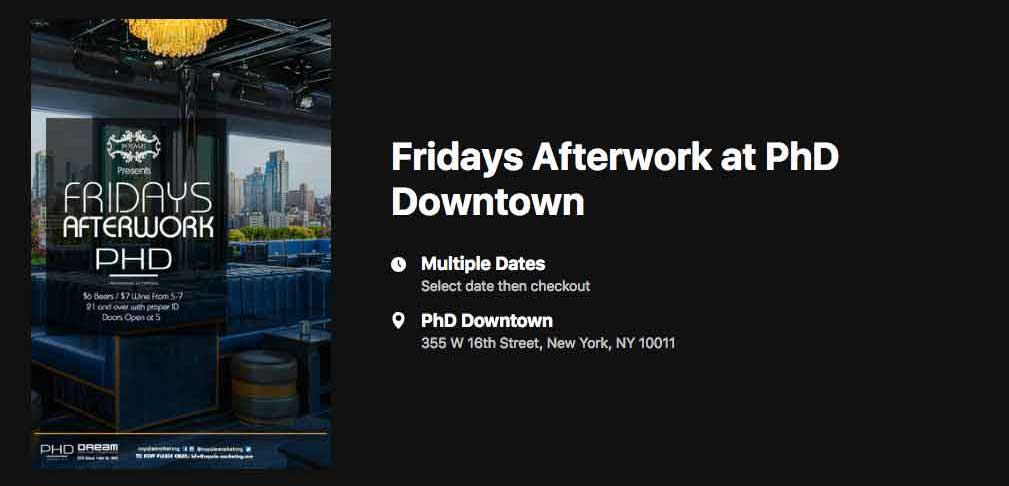 Fridays AfterWork @ PHD Downtown