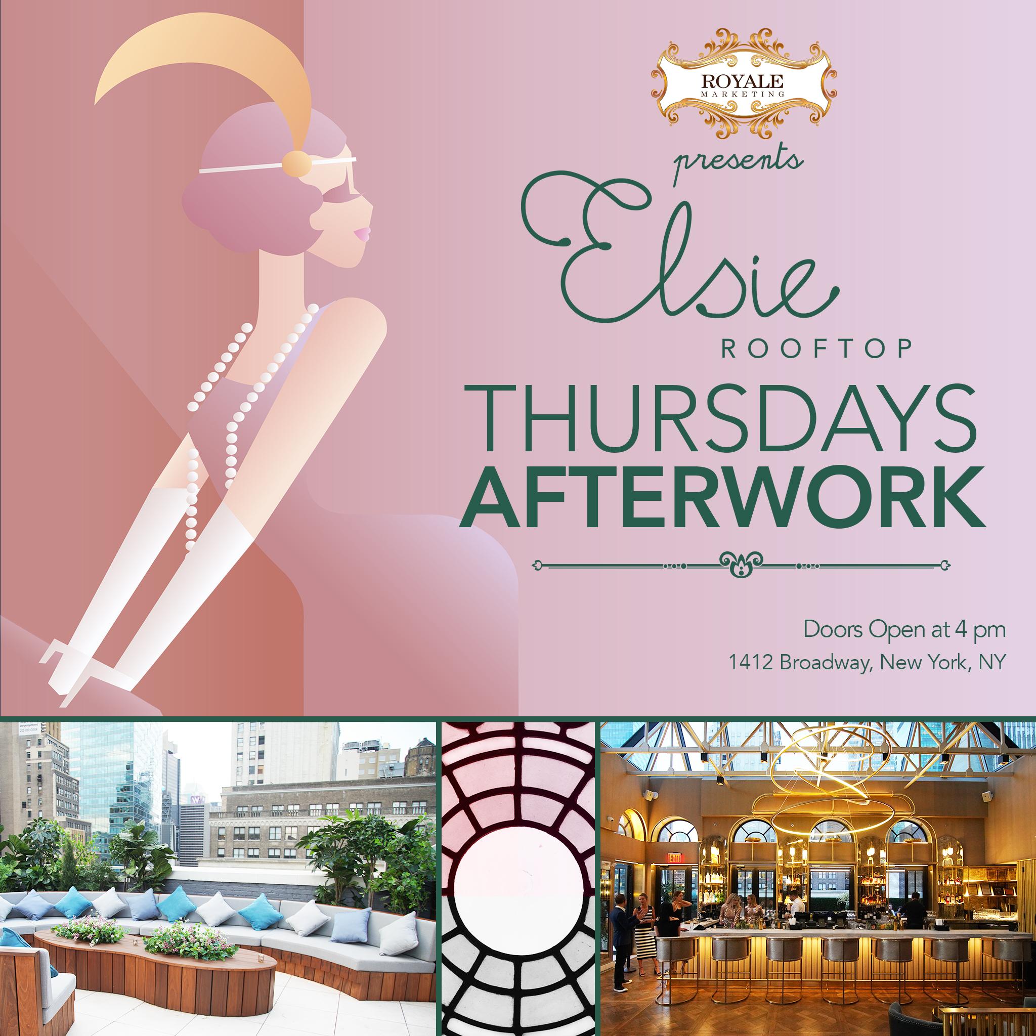 Thursdays Afterwork at Elsie Rooftop