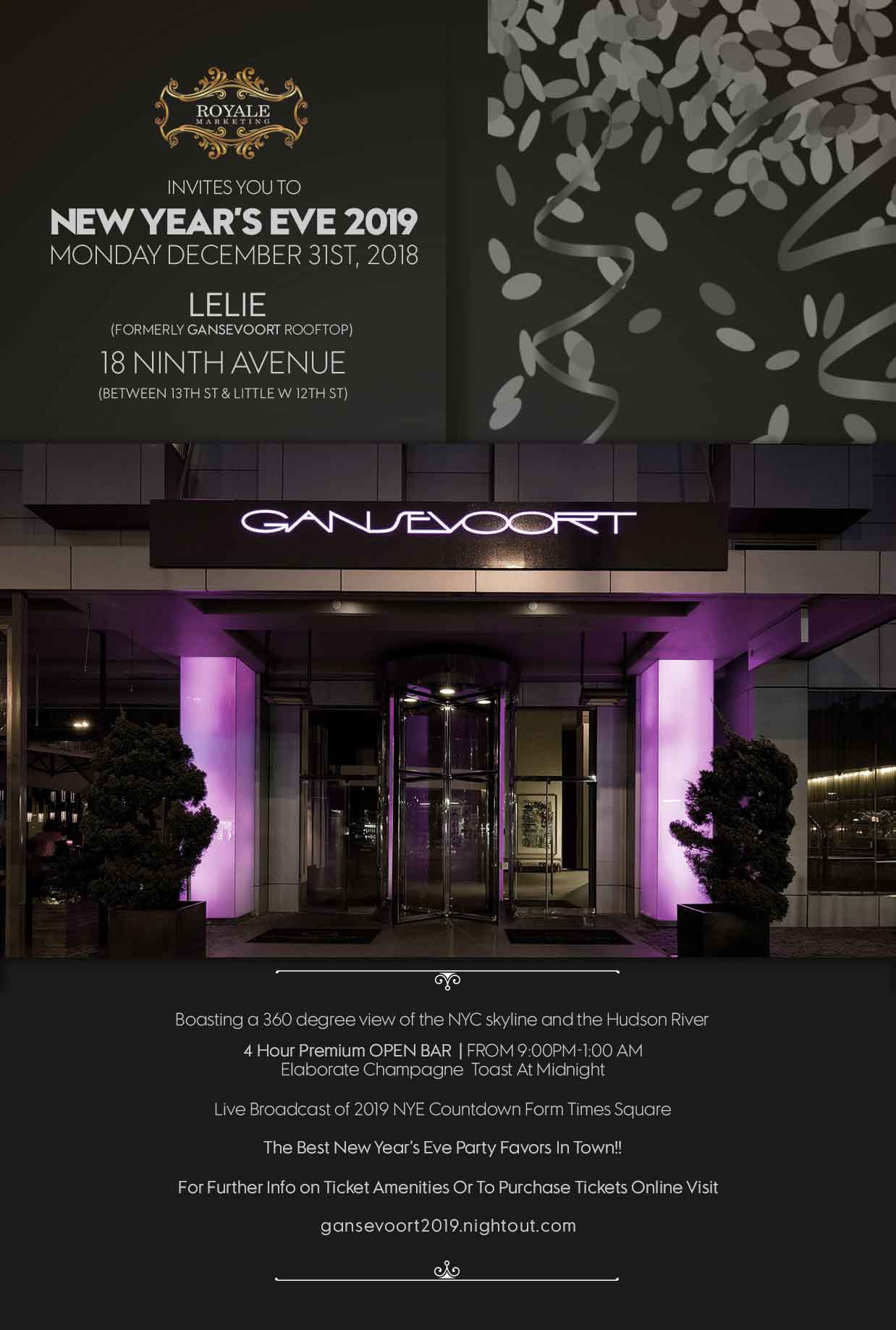 New Year's Eve @ Gansevoort Flyer