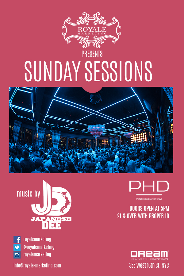 Sunday Sessions At PHD Downtown is Back !!!